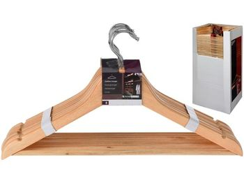 Набор вешалок деревянных 8шт