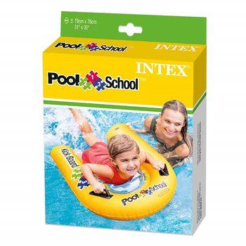 """Матрас надувной с ручками """"Kick Board Pool School"""" 79x76 см Intex 58167 (1618)"""