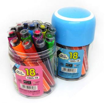 Фломастеры 18 цветов AIHAO с печатями на крышке