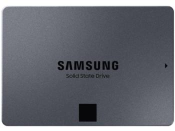 """2,5-дюймовый твердотельный накопитель SATA 1,0 ТБ Samsung 870 QVO """"MZ-77Q1T0BW"""" [Ч / З: 560/530 МБ / с, 98/88 КБ IOPS, MJX, 4-битный MLC]"""