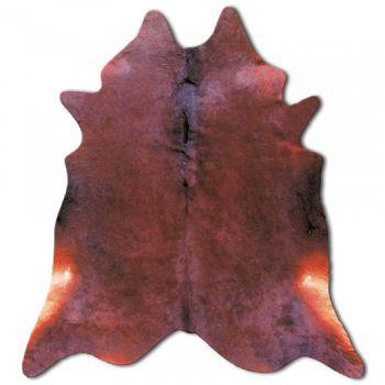 Ковер из натуральной кожи COW DIED BROWN SKIN, рыже-коричневый