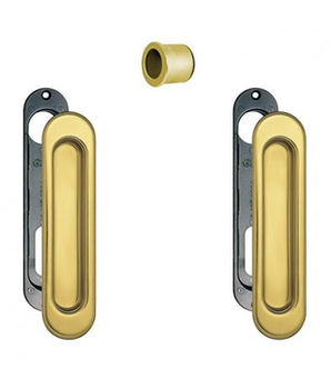 Комплект ручек для раздвижных дверей B019270010 полированная латунь