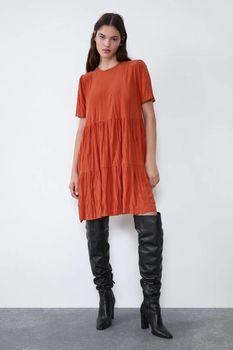 Платье ZARA Кирпичный 1165/801/658