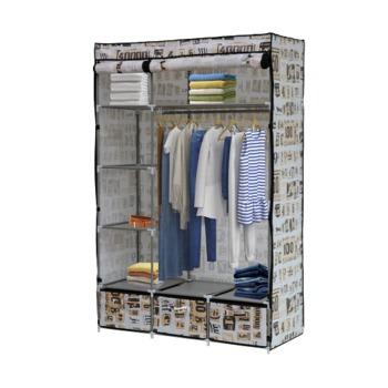 cumpără Dulap pentru haine cu 4 poliţe şi 3 sertare, 1100x460x1680 mm în Chișinău
