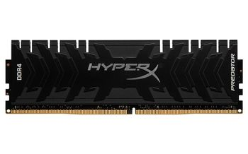 8GB DDR4-3600  Kingston HyperX® Predator DDR4, PC28800, CL17, 1.35V, Asymmetric BLACK low-profile heat spreader, Intel XMP Ready (Extreme Memory Profiles)