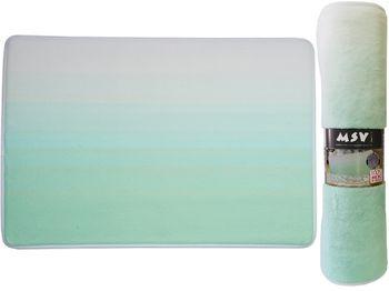 Коврик для ванной комнаты 50X70cm Sugar зелeный, микрофибра