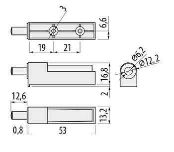 Amortizor mic cu adaptor GTV
