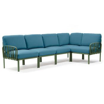 Диван с подушками Nardi KOMODO 5 AGAVE-adriatic Sunbrella 40370.16.142 (Диван с подушками для сада и терас)