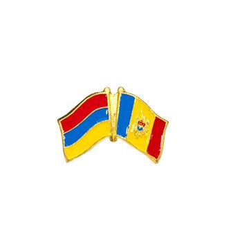 купить Значок - Флаг Армения & Молдова в Кишинёве