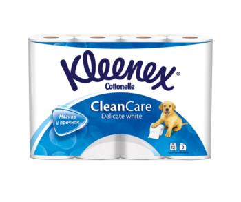 купить Туалетная бумага Kleenex Delicate White, 12 рулонов, двухслойная в Кишинёве