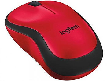Logitech M220 Silent Red Wireless Mouse USB, 910-004880 (mouse fara fir/беспроводная мышь)