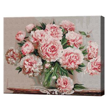 Садовые пионы, 40х50 см, картина по номерам  BS5581