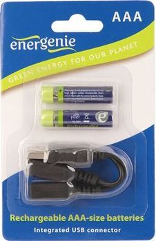 EnerGenie EG-BA-002 Rechargeable AAA-size Ni-MH 550mAh, Mini USB connector