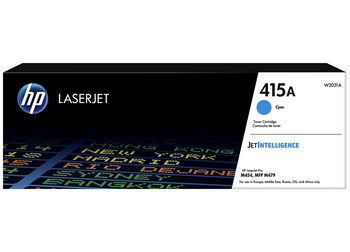 HP 415A Cyan Original LaserJet Toner Cartridge 2100 pages for HP M454dn/dw, M479dw/fdn/fdw/fnw