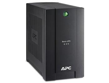 UPS APC Back-UPS BC650-RSX761, 650VA/360W, 230V, 4 x CEE Schuko sockets (3 Battery Backup, all 4 Surge Protected), LED indicators
