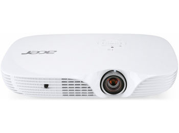 ACER K650I LED (MR.JMC11.001), DLP 3D, 1080p, 1920x1080, 100000:1, 1400 Lm, LED:20000hrs, HDMI (MHL), USB A, SD Reader, Wi-Fi (optional), White, 0,43kg