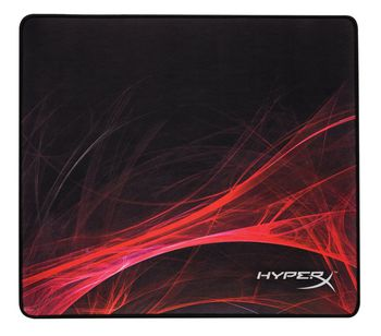 KINGSTON HyperX FURY S Speed Edition Gaming Mouse Pad Large from Kingston, Natural Rubber, Size 450mm x 400mm x 3.5 mm, Seamless, Stitched edges, Densely woven surface for accurate optical tracking, Compatible with optical or laser mice, Black
