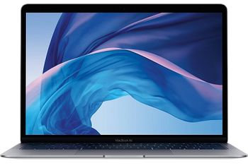"APPLE MacBook Air (Late 2018) Space Gray, 13.3"" Retina IPS (Intel® Dual Core™ i5 1.6-3.6GHz (Amber Lake Y), 8GB DDR3 RAM, 128Gb SSD, Intel UHD Graphics 617, TB3, WiFi-AC/BT4.2, 10 hours, Touch ID, 720p Camera, Backlit KB, RUS, macOS Mojave, 1.25kg)"