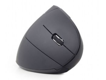 купить Wireless Mouse Gembird MUSW-ERGO-01, Optical, 800-1600 dpi, 6 buttons, Ergonomic, 1xAA, Black в Кишинёве