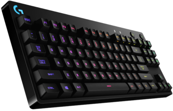 Gaming Keyboard Logitech G PRO, TLK, Mechanical, GX Blue Clicky, RGB , Detachable cable, Black, USB