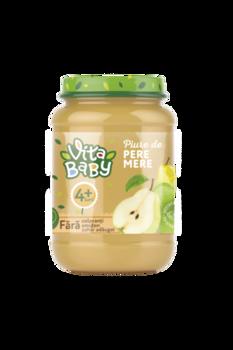 Пюре Baby Vita без сахара груша, яблоко, 180г