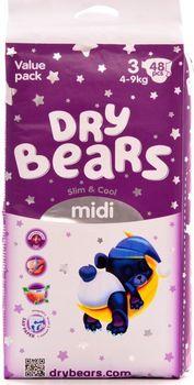 купить Dry Bears Slim&Cool 3 Midi (4-9 кг) 48 шт. в Кишинёве