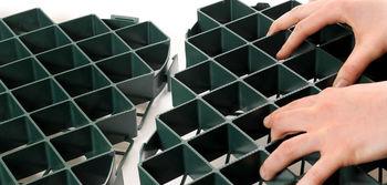 купить Решетка ПЭ для защиты травы 39,5x39,5 h-40mm зеленая в Кишинёве