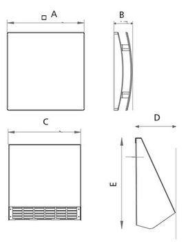 купить Рекуператор воздуха Alnor HRU-Wall-150 в Кишинёве