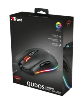 Mouse Trust GXT 900 Qudos RGB Gaming, Black