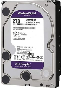 3,5-дюймовый жесткий диск 2,0 ТБ-SATA- 64 МБ Western Digital «Purple Surveillance (WD20PURZ)»