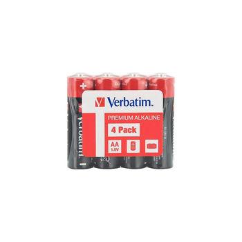 Verbatim AA Alkaline Battery 4 Pack Shrink 49501