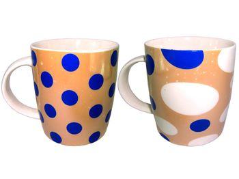 Чашка керамическая в горошек 320ml