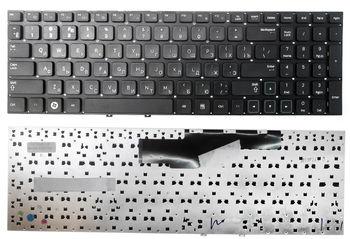 """Keyboard Samsung NP350E5 NP350V5 NP355E5 NP355V5 NP365E5 NP270E5 NP275E5 NP550P5 NP550P7 NP300E5 NP300V5 NP305E5 NP305V5 w/o frame """"ENTER""""-small ENG/RU Black"""