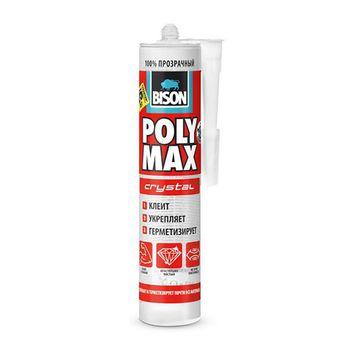 Bison Клей Poly Max Crystal Бесцветный 300мл