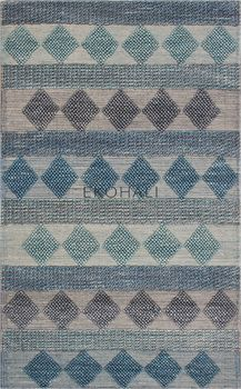 Ковёр ручного плетения EKOHALI Jade JD 01 Blue