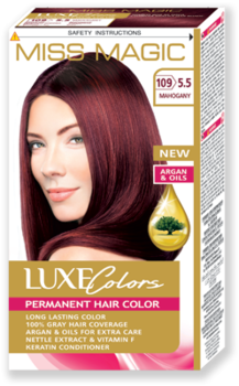 Vopsea p/u păr, SOLVEX Miss Magic Luxe Colors, 108 ml., 109 (5.5) - Mahon