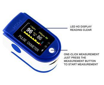 Пульсоксиметр Finger Clip Pulse Oximeter JN P01 TFT Blue