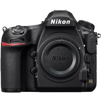 "Nikon D850 body, 45.7MPx FX-Format CMOS Sensor; 4K UHD Video Recording at 30 fps; EXPEED 5 Image Processor; 3.2"" 2,359k-Dot LCD Monitor; Full HD 1080p Video at 120/60/30/24 fps; Multi-CAM 20K 153-Point AF Sensor; Native ISO 25600, Ext ISO 102400, VBA520AE"