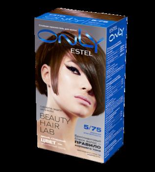 Краска для волос,ESTEL Only, 100 мл., 5/75 - Светлый шатен коричнево-красный