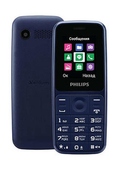 купить Philips Xenium E125 ,Blue в Кишинёве
