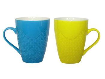 купить Чашка керамическая конус рельефная 330ml одноцветная в Кишинёве