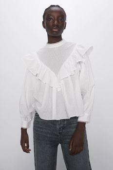 Блуза ZARA Белый 2131/494/250