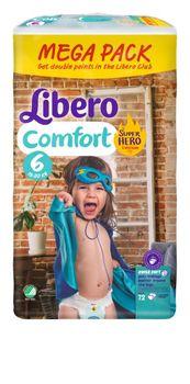 купить Libero подгузники Megapack Comfort 6, 13-20 кг 72шт в Кишинёве