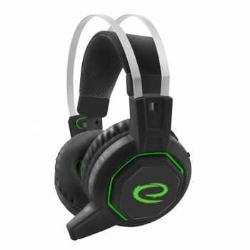 купить Headset Gaming Esperanza ICEMAN EGH7000, 7.1 SURROUND SOUND, Black/Green, 2x mini jack 3.5mm + 1x USB 2.0, Drivers 40mm, Volume control, Cable length 2m, Weight 315g в Кишинёве