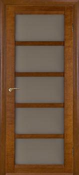купить Дверь БРИСТОЛЬ-Э орех темный остекленная в Кишинёве