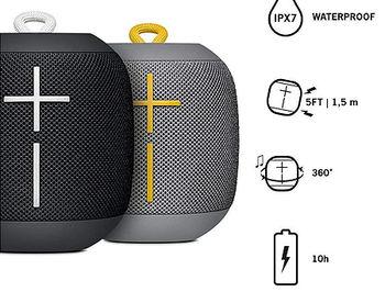 Logitech 2-pack Bundle Ultimate Ears Wonderboom Portable Stereo Speaker, 86dBC, 90Hz-20kHz, 360° Sound, Waterproof – IPX7, up to 10 hours of battery life, 991-000238