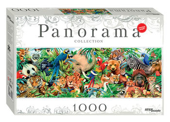 """Мозаика """"puzzle"""" 1000 """"Мир животных"""" (Панорама), код 40772"""