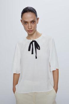 Блуза ZARA Белый 3666/037/251