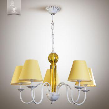 купить N&B Light Люстра Мишель 17105-2 желтый, белое золото/патина в Кишинёве