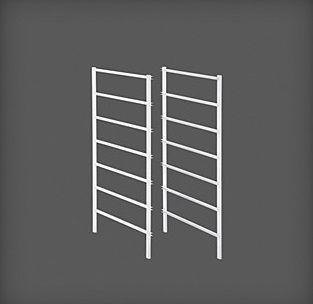 cumpără Set ramă pentru coșuri metalice, 7 rânduri, 535x20x740 mm, alb în Chișinău